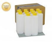 10 x 250 ml empty plastic bottles, plastic bottle with Yellow HDPE Empty Plastic Bottles Screw Top Bottles Chemical Resistant