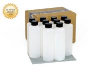 10 x 250 ml empty plastic bottles, plastic bottle, HDPE Empty Plastic Bottles with Black Screw Top Bottles Chemical Resistant