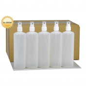 5 x 250 ml with Finger Trigger Spray Bottle Atomiser Spray Plastic Bottles with Spray Pump HDPE Plastic Bottles with Atomiser Spray 5 labels