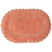 Jessica Simpson Carlin Reversible Bath Rug, Burnt Coral
