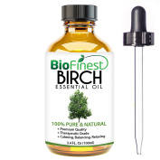 BioFinest Birch Oil - 100% Pure Birch Essential Oil - Fight Arthritis, Muscle & Joint Paint - Premium Quality - Therapeutic Grade - Best For Aromatherapy -  .   and Dropper