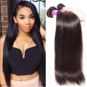 ALI JULIA Wholesale 7A Brazilian Straight Virgin Hair Weave 3 Bundles 100% Unprocessed Remy Human Hair Weft Extensions 95-100g/pc Natural Black Colour