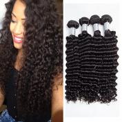 Brazilian Deep Wave Virgin Hair 100% Brazilian Human Hair Weave 4 Bundles Mix Lengths 7A Cheap Brazilian Curly Virgin Hair Brazilian Deep Wave