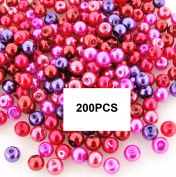 Beads Direct USA's Glass Pearls Mix 200pcs Round 4mm - Valentine's Mix