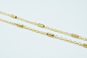 New Gold Filled Chain 18K Spacer Size 2mm Chain Size 1mm for Jewellery Making GFC50 Sold by Foot