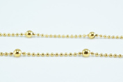 New Gold Filled Chain 18K Ball Size 3.5mm Chain Size 1.5mm for Jewellery Making GFC52 Sold by Foot