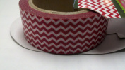 Red Chevron Stripe Washi Tape - 10 Yards