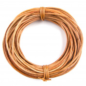 Xsotica Round Leather Cord 1mm Natural Dye Tan