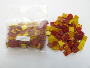 Hakatai Glass Mosaic Tile 1.9cm - 0.5kg Red-Orange-Yellow AB 08