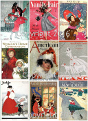 Victorian Vintage Christmas Magazine Cover #102 Printed Collage Sheet 22cm x 28cm