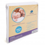 Bawum 5-Layer Waterproof Fitted Crib Protective Mattress Pad Cover