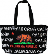 Robin Ruth California Canvas Bag Bear Flag