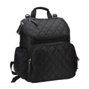 Vlokup Best Multifunction Designer Baby Nappy Bag Backpack Travel Nappy Bag for . Moms & Dads Smart Organise System Waterproof with Changing Pad, Wet Bag, Stroller Straps Black