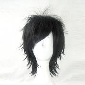 Yuri Katsuki YURI!!! on ICE Black 35cm Short Cosplay Wig + Free Wig Cap