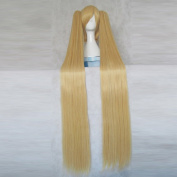 Pretty Cure Precure Cure Sunshine Gold Cosplay Wig + Free Wig Cap + Two 120cm Ponytails
