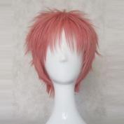 B-PROJECT Ashu Yuuta Pink 35cm Short Cosplay Wig + Free Wig Cap