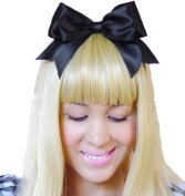 Black Headband Bow Alice in Wonderland Inspired Hair Accessory Handmade by Sweet In The City USA