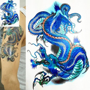 New Temporary Tattoo 3D Dragon Waterproof Removable Arm Body Sticker