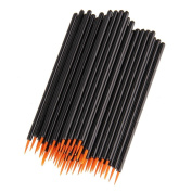 Beauty7 100PCS Fine Point Disposable Eyeliner Brush Applicator Wands Lip Gloss Cosmetic Makeup Tool