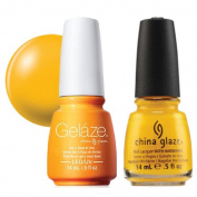 China Glaze Gelaze Tips and Toes Nail Polish, Sun Worshiper, 2 Count