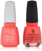China Glaze Gelaze Tips and Toes Nail Polish, Thistle Do Nicely, 2 Count
