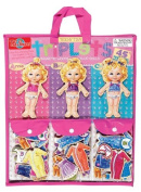 T.S. Shure Teeny Tiny Triplets Wooden Magnetic Dress-Up Dolls by T.S. Shure
