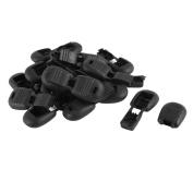 sourcingmap® 20pcs 5.2mmx4.7mm Plastic Clip Lock Ends for Zipper Pulls