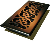 Decor Grates Scroll Plated Register, Rubbed Bronze Finish, 10cm x 25cm