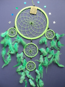 LARGE LIME GREEN DREAM CATCHER VIBRANT DREAMCATCHER FAIR TRADE