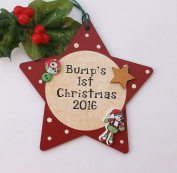Bump's 1st Christmas Star wooden plaque 2016
