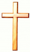 40 cm Wooden Hanging Cross Natural Wood Colour 16 inch high Religious Jesus Symbol Personal, Corporate Worship Home, School, Church.