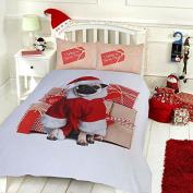 Pieridae Christmas Pug Duvet Cover & Pillowcase Set Bedding Digital Print Quilt Case Bedding Bedroom Daybed
