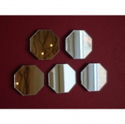 Pack of 10 x Octagon Mirror - 4cm x 4cm