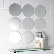 Pack of 10 Circle Mirror Tiles - 4cm