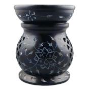 Blue Eternity Soapstone Essential Oil Burner / Aromatherapy Oil Burner - Medium