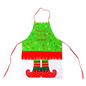 Eleery Christmas Cooking Apron Novelty Santa Claus Elf Xmas Dinner Party Adult Apron Gift