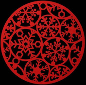 2 Christmas Red Felt Place Mats Snowflake Festive Party Dinner Table Decoration
