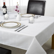 Emma Barclay Chequers Tablecloth, White, 150cm x 210cm