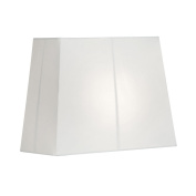 OAKS LIGHTING S515/14 WH Hard Lined Rectangle Lamp Shade, Cotton, White