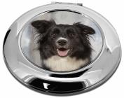 Border Collie Dog Make-Up Round Compact Mirror Christmas Gift