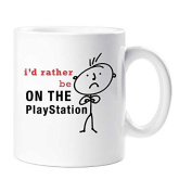 Men's I'd Rather Be On The Playstation Mug Cup Gift Dad Husband Fathers Day Friend Birthday Christmas Cup