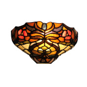 30cm Vintage Pastoral Tiffany Style Exotic Floral Wall Light Hallway Lamp
