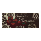Structures Textured Loop 50cm x 120cm . Runner Kitchen Accent Rug, Tomatoes, Red/Brown