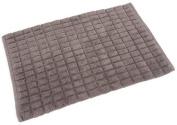 FHE Group Squarette Bath Mat, 90cm by 50cm , Zinc