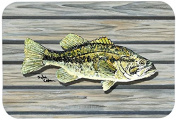 """Caroline's Treasures 8493-CMT """"Fish Bass Small Mouth"""" Kitchen or Bath Mat, 50cm by 80cm , Multicolor"""