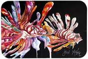 "Caroline's Treasures JMK1114CMT ""Lionfish"" Kitchen or Bath Mat, 20"" by 30"", Multicolor"