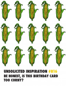 Quiplip UI496pck Corny Birthday Card,