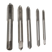 Tapping Screw Thread Metric Plug Taps 5pc HSS Titanium Machine Hand Tap 3mm 4mm 5mm 6mm 8mm M3-M8 set Hand Grinding Carving Tool -Pier 27