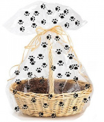 CakeSupplyShop Exclusive Item#20577 -5pack Paw Print Large (25inchx 80cm ) Cello/cellophane Bags Gift Basket Packaging Bags
