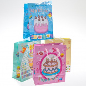 Happy Birthday Glitter Gift Bags - pkg12